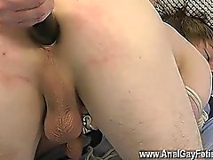 Gay fuck Poor British guy Benji Looms is turned into a real