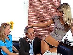 Sexual раскладывая с его учителями