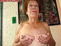 Antigua granny de aficionados latino de grandes tetas y culo grande