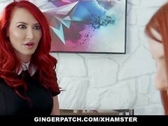 GingerPatch - Redhead Step Daughter and Stepmom Fuck Each Ot