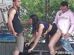 Hot teen with big boobs in public sex 2