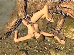 Skyrim Illia & a Troll