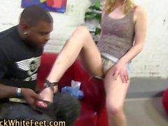 Hot seductive footjob
