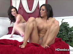 Naughty Kendra and friend plays with toy