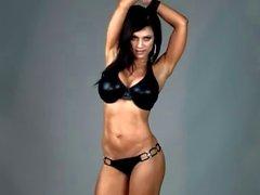 Denise Milani in lattice bikini del - base non nudi