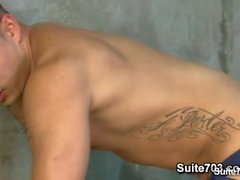 Sexy tattooed jock Al Carter suck and fuck Hunter Vance's big shaft