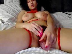 Ebony solo webcam masturbation hairy