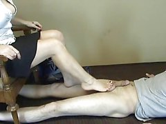 Sweet treats pedal pumping footjob