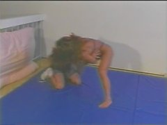 Mixed Wrestling with Fitness Model Charlene Rink part 3