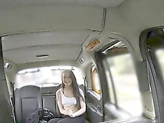 Nasty British amateur bangs in cab