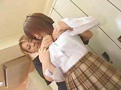 Raunchy Japanese lesbian teacher seduces her teenage student