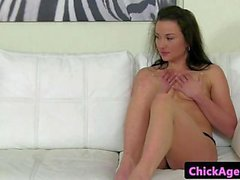 Casting eurobabe licked by hot lesbian agent