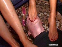 Vixen Sweaty School Gril feet