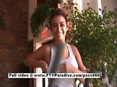 Alexa Loren superb brunette babe in a gym