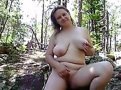 Naked Housewife Outdoors