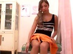 Japanilainen tyttö Student Doggystyle