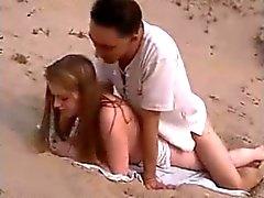 Nude Beach - Hot Redhead Fucked