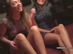 Griselle Jenna game room foot fetish