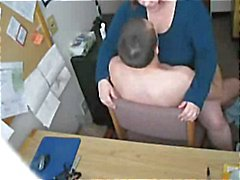 Fucking mijn geile Fat BBW Secretary on hidden cam
