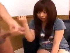 Asian Amateur Giving the Most Sensual HandJob