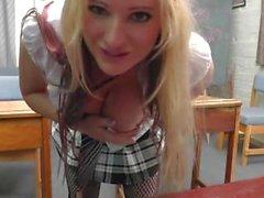 Detention for rebellious blonde College slut Kaz B Part 1: