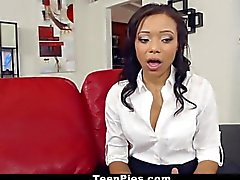 TeenPies - Ebony Secretary Loves A Sticky Creampie!