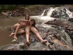 Barbara Vasconcelos Fucks her girlfriend in a stream