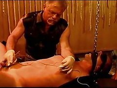 Sound and electro stim on hot gay stud