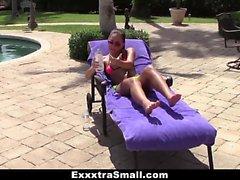 ExxxtrSmall - Petite Teen Teases Spanish Pool Boy