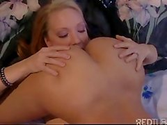 Hot blond and Asian lesbians playing