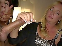 Horny Housewives Share Strippers MonsterCocks
