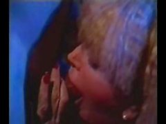 Busty blonde Candy Samples in a retro scene gets ready to fuck