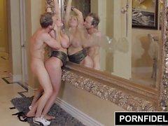 PORNFIDELITY - Alanah Rae Obtém Tits enormes Cobertos Na Jizz