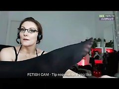 Woman margot 10min adult plastic feet that are black footfe
