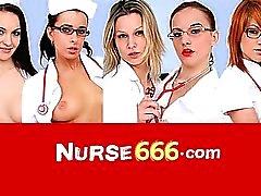Enfermero perversa de Alexa cogidas Negrita enormes consolador mierda
