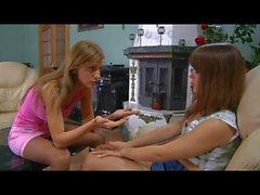 Джессика & Роза лесбиянка pantyhosers в действии
