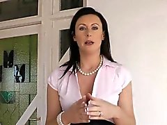 Petite euro fingers and spanks british milf