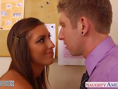 Tattoed office babe Rilynn Rae take cock