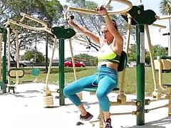 TheRealWorkout - Workout Babe gets Exposed & Dicked Down
