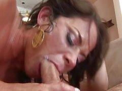 Savannah Stern gags herself on huge cock