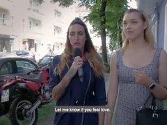 Hitzefrei Sexy Blondine findet zufällig Kerl auf der Straße