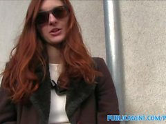 PublicAgent Naughty redhead fucked hard outdoors