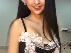 Cute thai girl facebook live