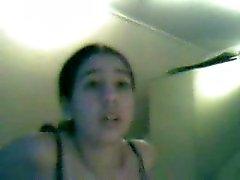 Arab girl stripping on webcam