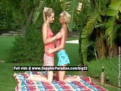 Aneta and Jenny lovely lesbo girls undressing