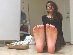 Fußmodell - Brunette-Fuß-reizvoll