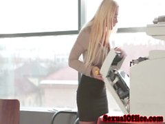 Office secretary getting pounded after hours
