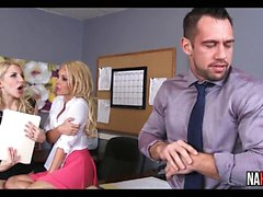 Büro Threesome Spaß Aaliyah Liebe, Ashley Brände