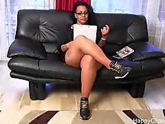 Foot slave sessio by Gina