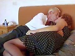 Horny Granny Fucks Older Man